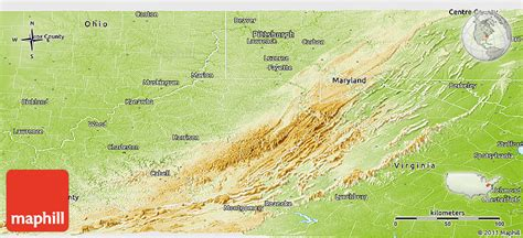 physical map of virginia physical panoramic map of west virginia