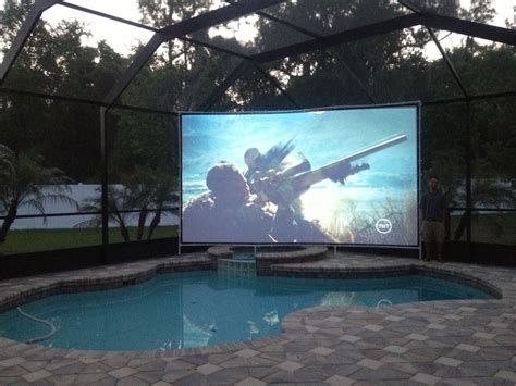 outdoor backyard theater guide projector people
