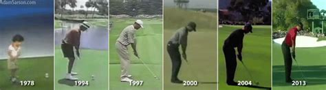swing years comparing tiger woods swing over the years golf channel
