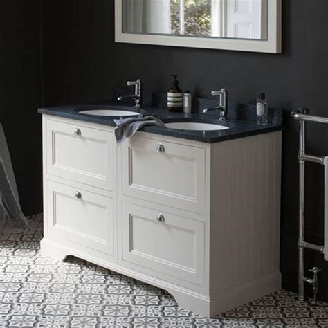 Two Basin Vanity Units by Burlington Sand 1300mm Vanity Unit With Drawers