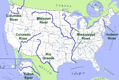 world map of rivers and streams major rivers in the united states images frompo