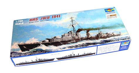 Trumpeter 05740 1 700 Scale Hms Battleship 1941 Plastic Assembly trumpeter model 1 700 war ship hms zulu 1941 scale hobby 05758 p5758