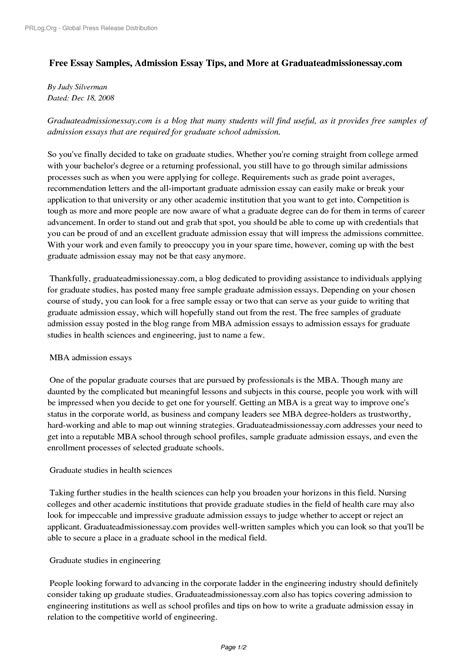 graduate essay samples writing an admission essay for graduate