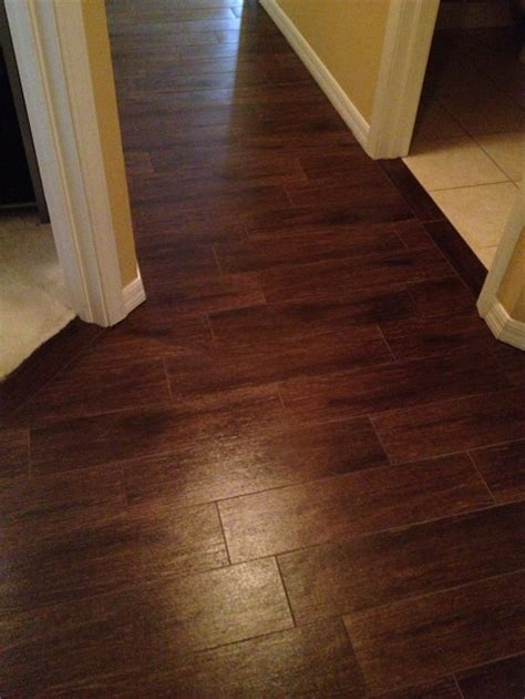 Wood Style Flooring by Porcelain Plank Wood Look Tile Installations Ta Florida
