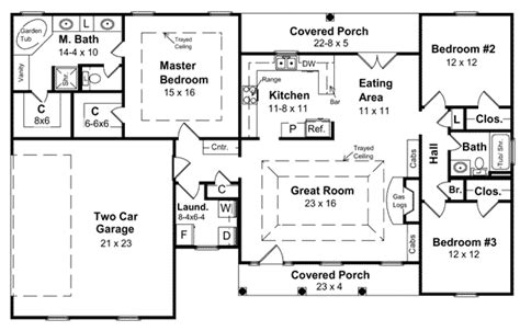 4 Bedroom Ranch House Plans With Basement House Plan 59008 At Familyhomeplans Com