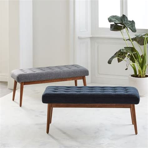 west elm benches mid century bench west elm