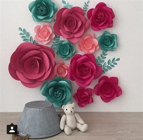 How To Make Paper Flower Wall Decorations - large decorative flowers my web value