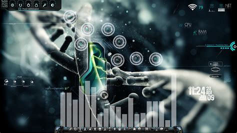 pc themes skins nanoschematic desktop for rainmeter by ionstorm01 on