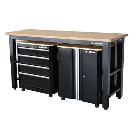 24 garage cabinets husky 42 in h x 72 in w x 24 in d steel garage cabinet