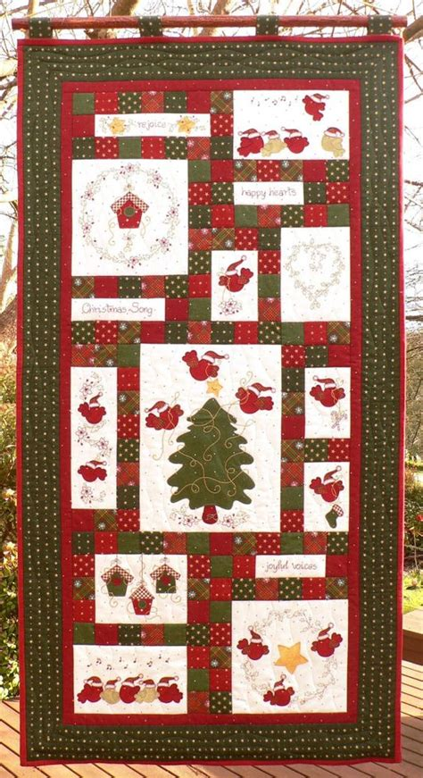 Patchwork Advent Calendar Pattern - block of the month songs and advent calendar on