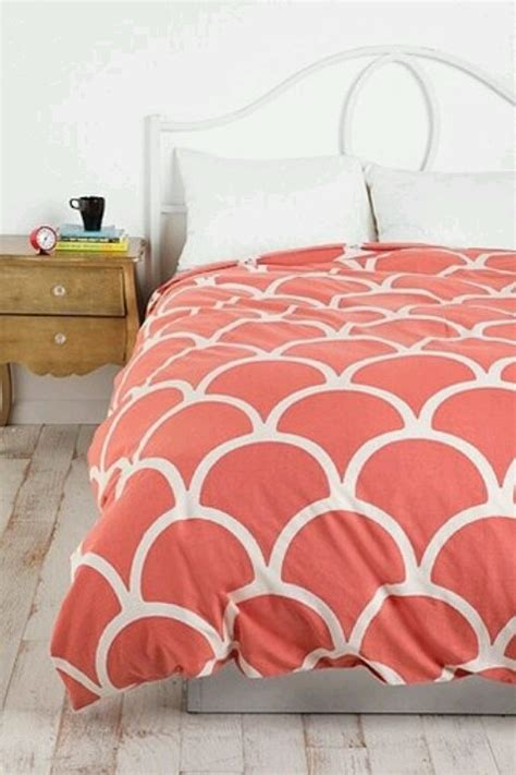 coral and white bedding urban outfitters coral duvet cover mi cuarto pinterest