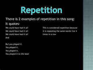 Examples of repetition