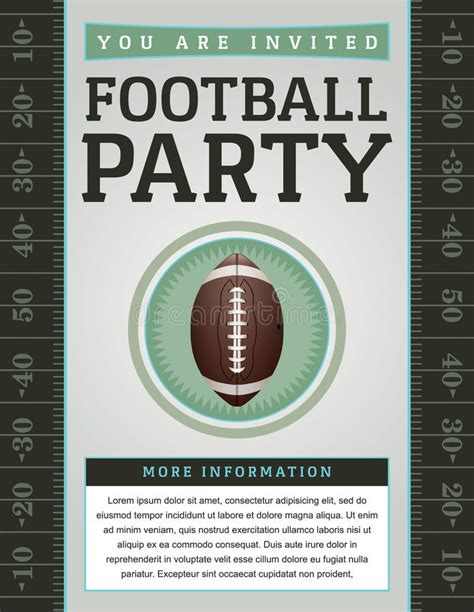 American Football Party Flyer Stock Vector Illustration 42363962 Free Tailgate Flyer Template