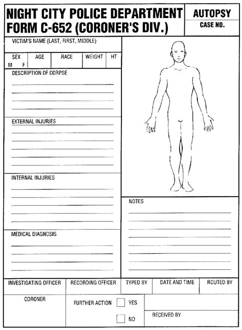 Autopsy Report Template Professional Templates For You Autopsy Report Template