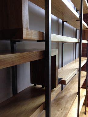 handmade wood  steel floating book shelves  object