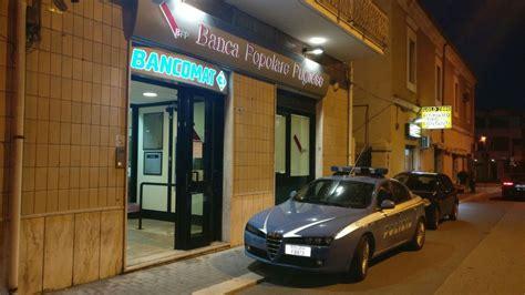 banca poplare pugliese termoli rapina nella filiale dalla banca popolare