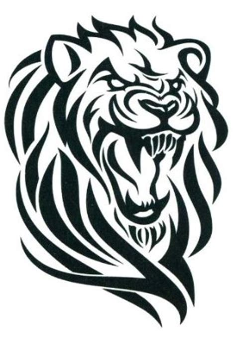 tattoo animal clipart tribal lion tattoos clipart best