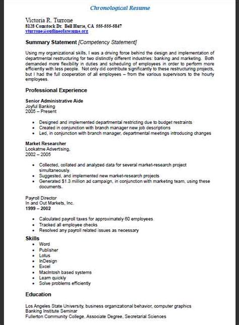 resume resume outline resume structure models