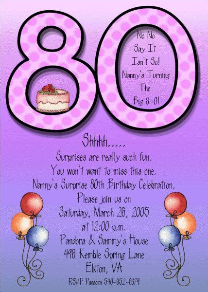 80th birthday invitation template 80th birthday invitations printable birthday