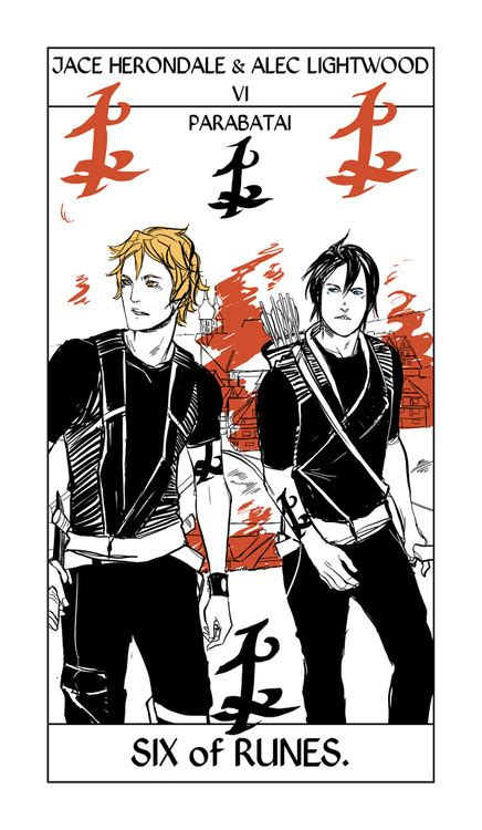 jace and alec tarot card by cassandra jean tmi source