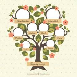 pretty family tree template pretty family tree with green leaves and flowers