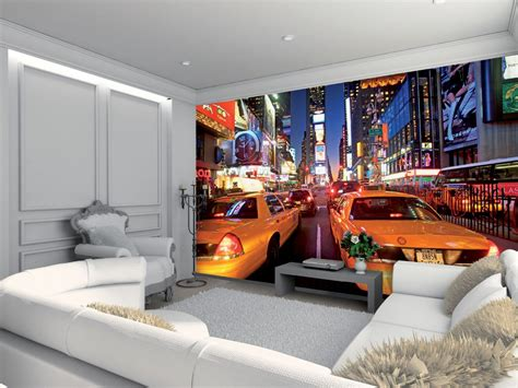 new york wall mural wallpaper wall mural new york times square yellow taxi themed design