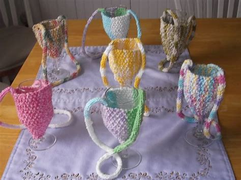 crochet pattern wine glass holder ravelry wine glass holder pattern by claudia olson