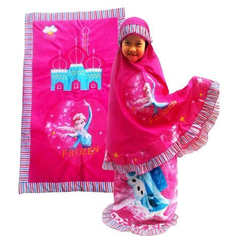 Mukena Masha Pink topi anak karakter toko bunda