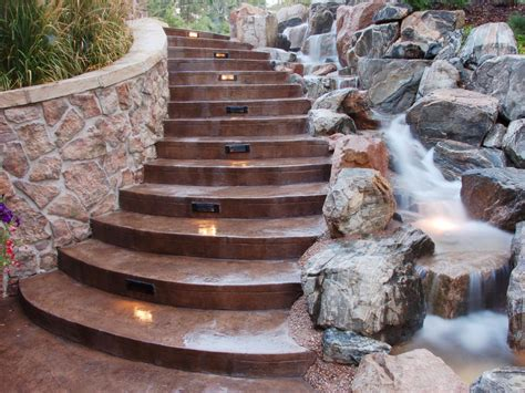 backyard stairs ways to light your outdoor entryway hgtv