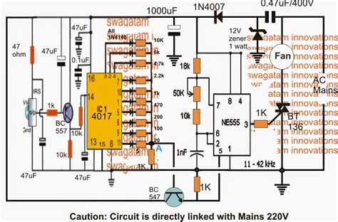 circuit diagram remote ceiling fan free