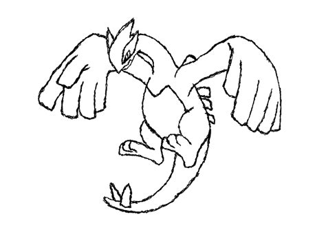 shadow lugia free colouring pages