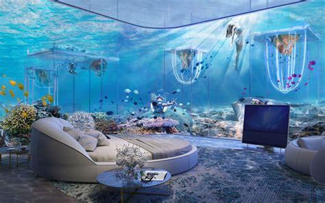 underwater rooms dubai s new floating underwater resort is inspired by venice travel leisure