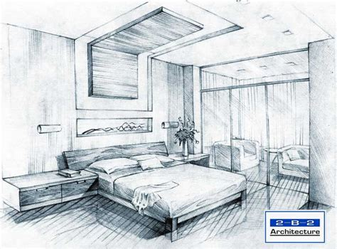 sketch of a bedroom sketchbook by 2 b 2 architecture at coroflot com