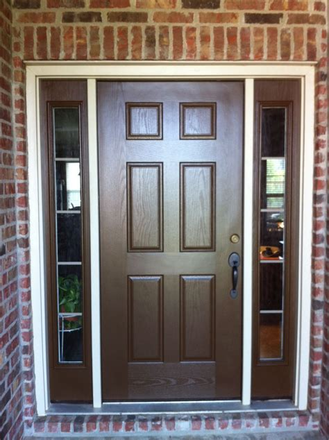 doors  sidelights home exterior painting brown