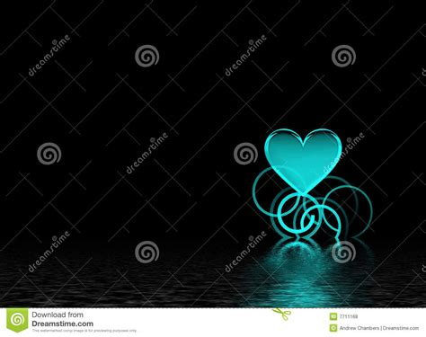 teal heart royalty  stock  image