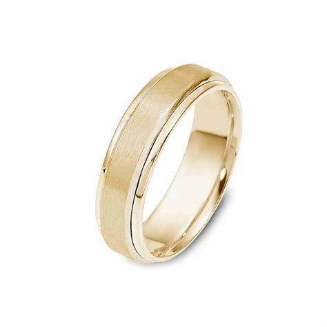 tone brushed gold wedding band posh men timeless