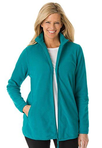 Jaket Ziper Grown within s plus size cozy zip anti pilling fleece jacket fashion grow