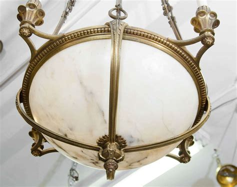 Antique Bronze Light Fixtures An Antique Bronze And Alabaster Light Fixture At 1stdibs