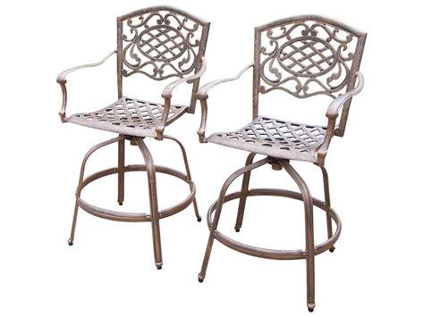 patio furniture bar stool swivel cast aluminum armless oakland living mississippi cast aluminum swivel bar stools