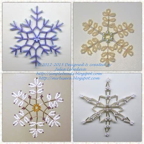 beading for the beginners beaded snowflake