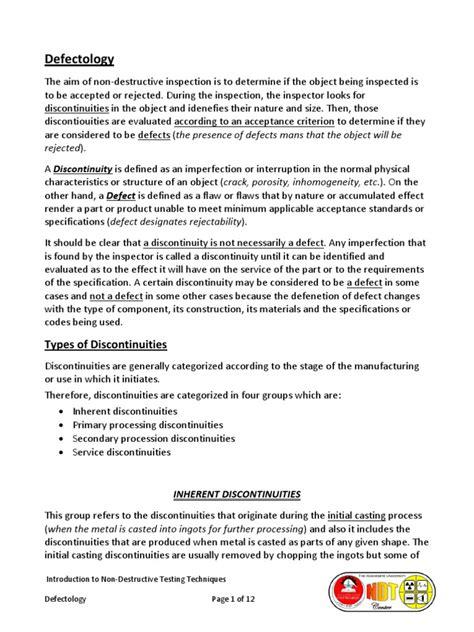 Discontinuities and Defects | Fatiga (Deformación) | Fractura