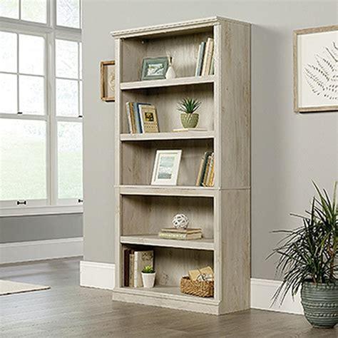 sauder chalked chestnut 5 shelf bookcase 423033 the home