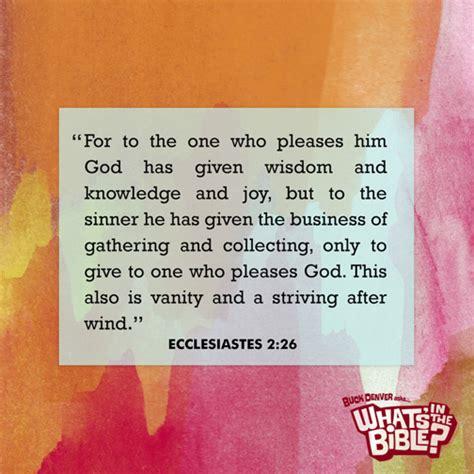 What Does Vanity In The Bible by Ecclesiastes 2 26 Verse Of The Day 10 21 14 Whats In The Bible