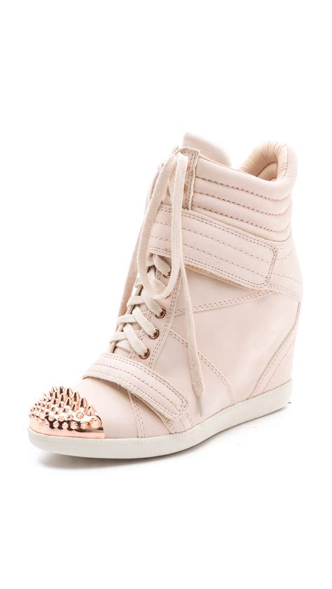 pink wedge sneakers boutique 9 nevan wedge sneakers in pink blush lyst