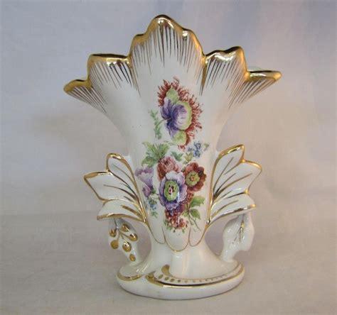 Gold Floral Vases Vintage Amoges Painted Flower Vase Gold Gilded Floral