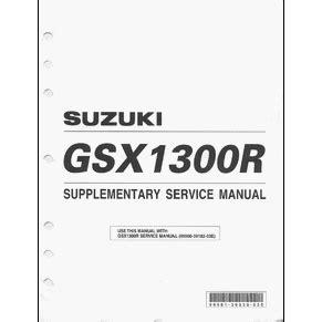 Suzuki Hayabusa Service Manual Service Manual Suzuki Gsx 1300r Hayabusa 2002 Pdf