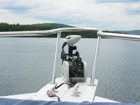Troline With Handrail trolling motor with bow railing the hull boating and fishing forum