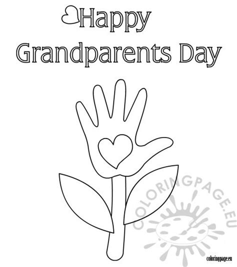 Coloring Page For Grandparents Day | grandparent s day coloring page