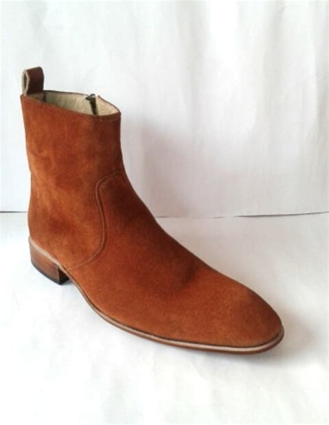 Handmade Dress Boots - handmade brown suede shoes leather shoes for