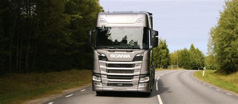 transport writers take scania s new truck generation out